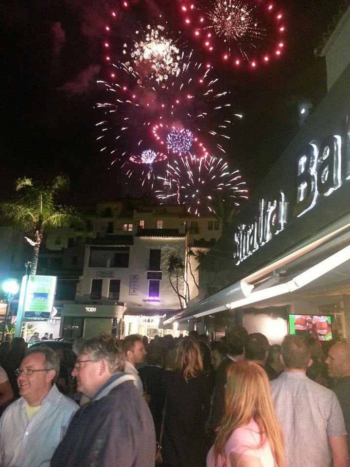 fireworks over Banus