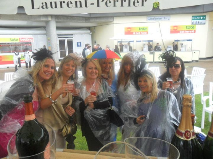 umbrellas at Ascot